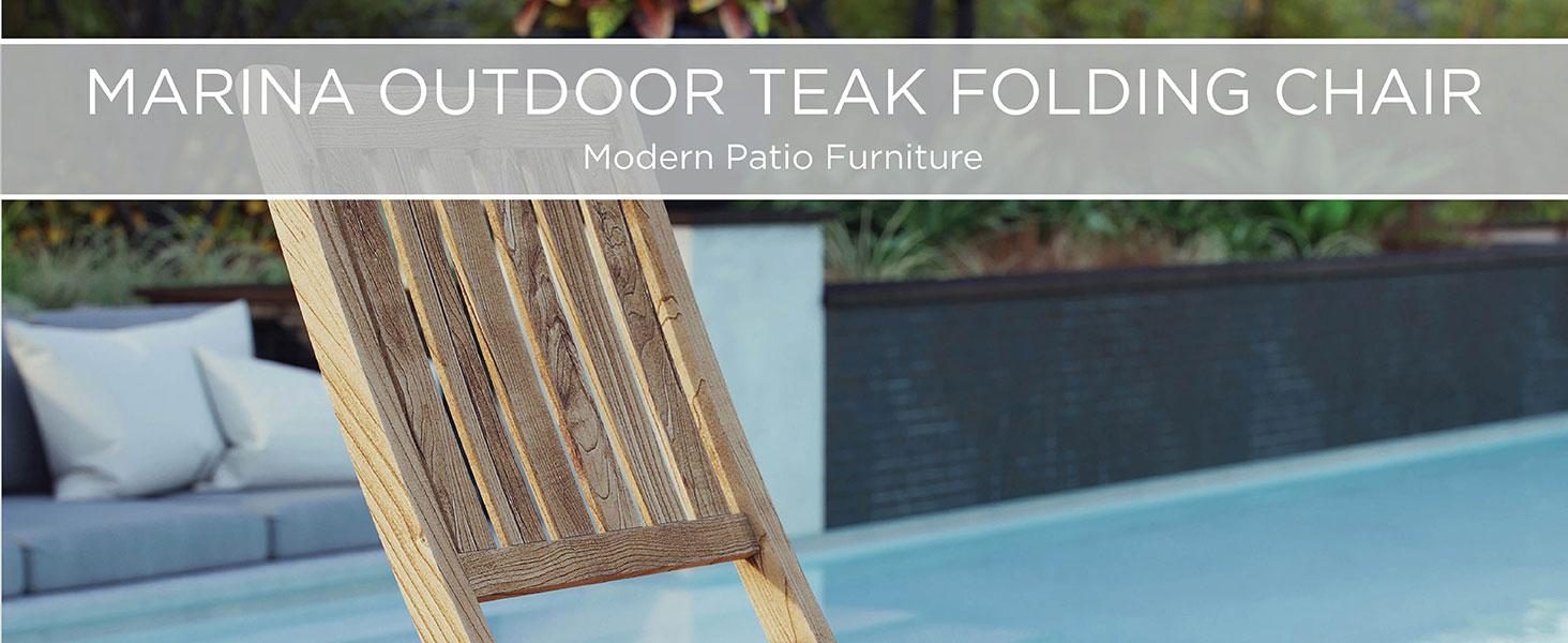 Amazon.com: Modway Mesa auxiliar teca marina para patio y ...