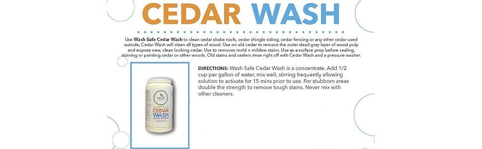 Wash Safe Industries Cedar Wash Eco Safe And Organic Wood