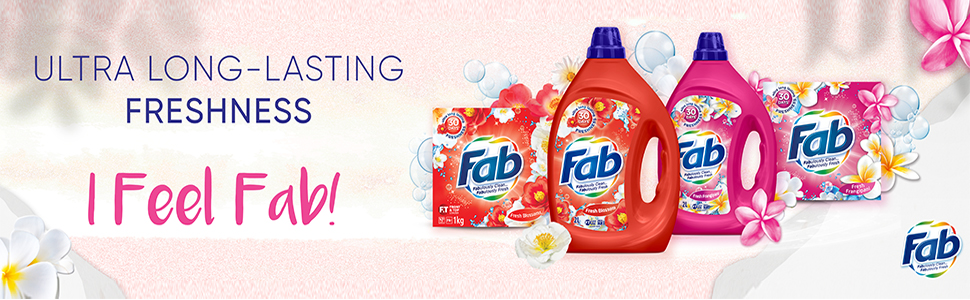 Fab,Fragrance detergent,long lasting,30days,Freshness,laundry,liquid detergent,powder detergent