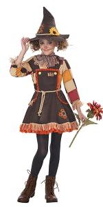 Scarecrow, Pumpkin Patch, Cute, Creepy, Girl's Costume, Halloween, Haunted House, Corn Maze