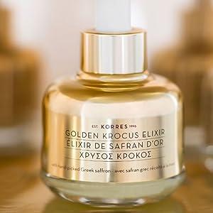 Golden Krocus Saffrom Serum Facial Skincare Greek Greece Korres Wrinkle Antiaging Skincare