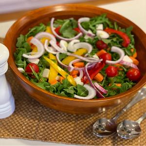 bowl, wood bowl, serving bowl, salad wood serving bowl, salad bowl serving set, rubberwood bowl