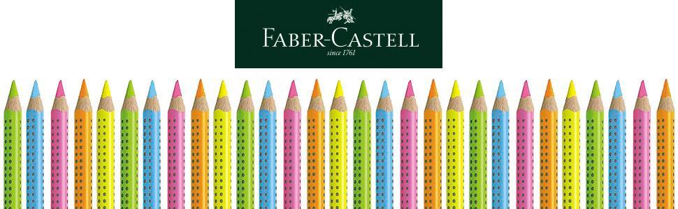 Faber - Castell 114863 - Caja con 12 ecolápices Textliner 1148 de marcación fluorescente Grip, color verde: Amazon.es: Oficina y papelería