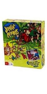 jumping, monkeys, bananas