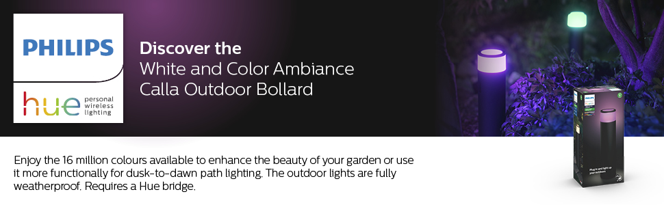 Hue White and Colour Ambiance Calla Outdoor Bollard