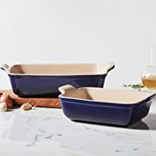 Le Creuset Stoneware shown in Indigo