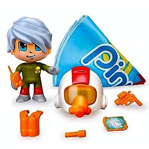 Pinypon Action- Paracaidista, 1 figurita con Accesorios, (Famosa ...