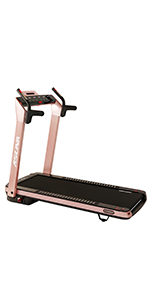 Pink Treadmill with auto incline
