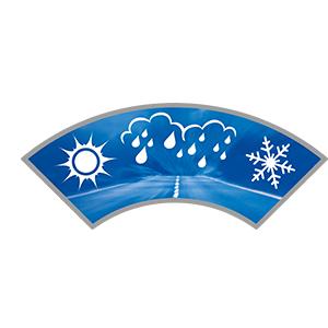 Sicuro anche nelle condizioni meteo più difficili