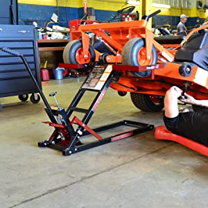 Pro Lift T-5305 Lawn Mower Lift with Hydraulic Jack for Riding Tractors and Zero Turn Lawn Mowers - 500 Lbs Capacity