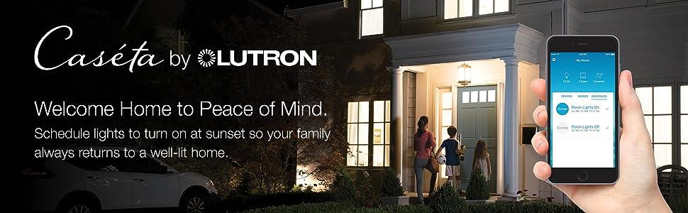 Lutron, smart lighting, Alexa lighting, scheduling, light timer