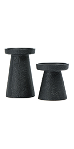 decorative candle and candleholders