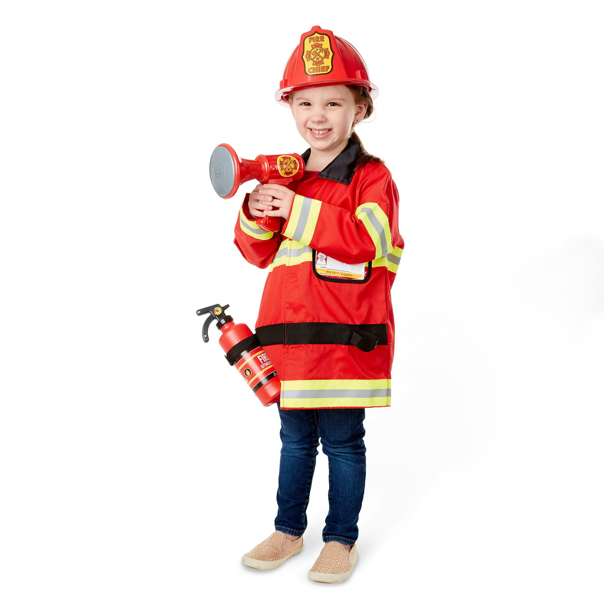 Amazon Melissa & Doug Fire Chief Role Play Costume Dress Up