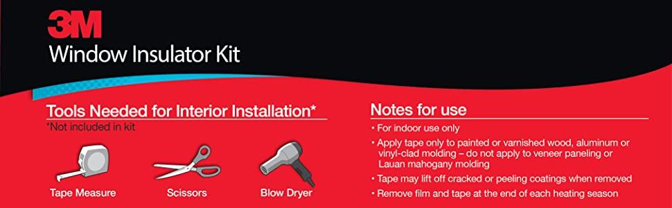 3M Window Insulator Kit Tools Needed for Interior Installation