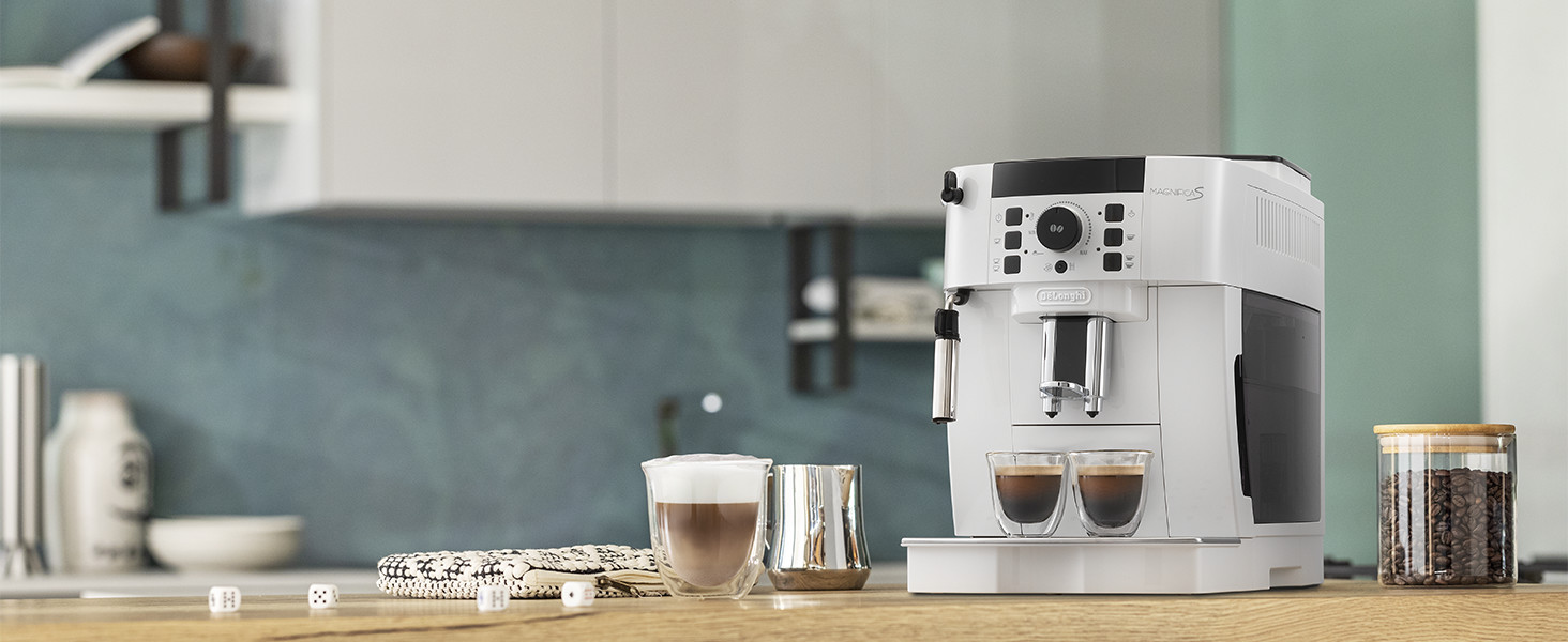Macchina da caffè, macchina da caffè automatica, chicchi macinati freschi
