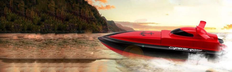 Only Works In Water VE003 Remote Control Boat Tempo 1 2.4GHz High Speed Remote Radio Control Electric Boat RC Boat