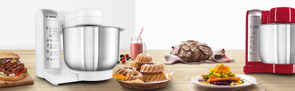 Bosch MUM48R1 Robot de Cocina 600 W, 3.9 L, 4 Velocidades, Color ...