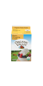 Organic Valley buttermilk works well with heavy whipping cream in a variety of recipes