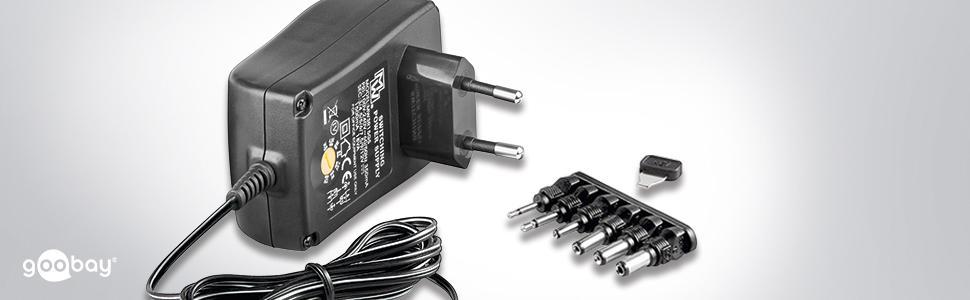 Goobay 3 12v Universal Netzteil Mit Max 12w Elektronik