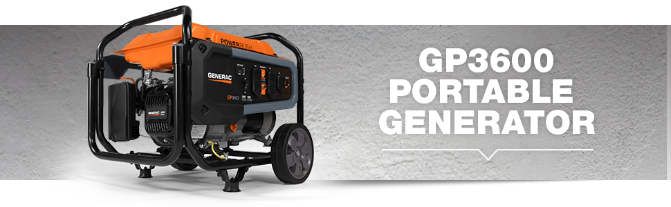 Generac, GP3600, Portable, Generator