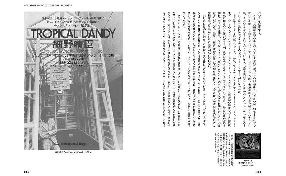 TROPICAL DANDY 細野晴臣