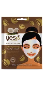 yes to;yes to coconut;yes to sheet mask;coconut mask;coconut sheet mask;paper mask