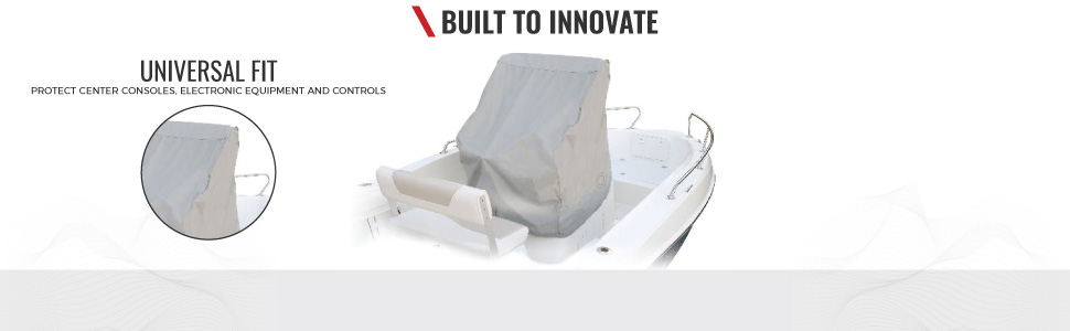 """Silver Waterproof Heavy Duty Boat Center Console Cover Protection 45/""""H*46/""""W*40/""""D"""
