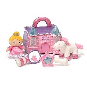 princess castle playset horse wand pink sparkle unicorn mirror star gund plush stuffed infant baby
