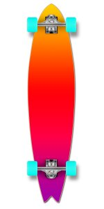 fishtail longboard complete cruiser skate downhill