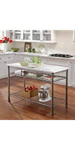 Delicieux The Orleans Kitchen Island With Butcher Block Top · The Orleans Kitchen  Island With Quartz Top · The Orleans Kitchen Cart · Stainless Steel Top  Kitchen Cart ...