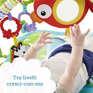Il tappetino portatile intrattiene il bambino con giochi, suoni e musiche