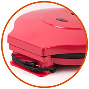 CHQP12R, Commercial Chef, Pizza Maker, Quesadilla, Desserts, Appetizer, Non Stick, Kitchen Appliance