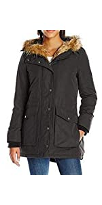 Levi's Women's Arctic Cloth Full Length Filled Parka With Faux Fur Trim