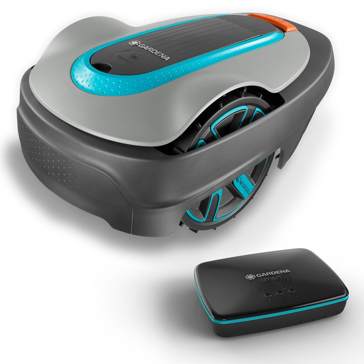 gardena smart sileno set city 500 m hroboter bis 500 m rasenfl che steigungen bis 25. Black Bedroom Furniture Sets. Home Design Ideas