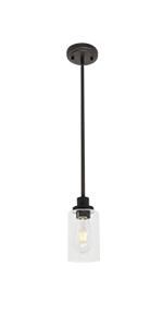 1-light glass pendant light