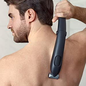 electric body groomer for men, electric trimmer below the neck, all-in-one groomer, back shaver