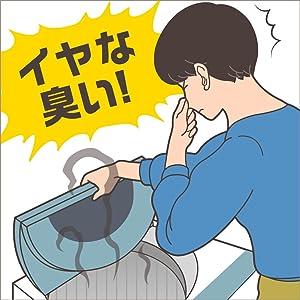 洗濯機のふたを開けると、イヤな臭いがする
