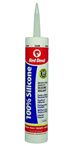 Red Devil Clear Silicone Sealant
