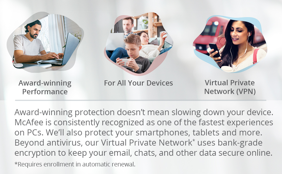 McAfee protects PCs, smartphones, tablets and more.
