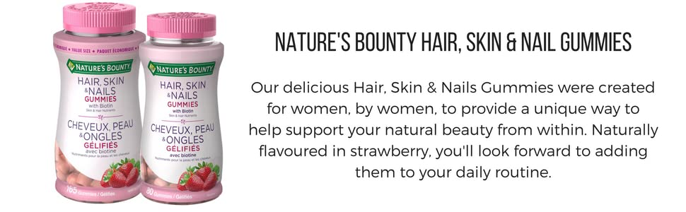 $5.99 (was $9.27) Nature\'s Bounty Hair, Skin and Nails Gummies with ...