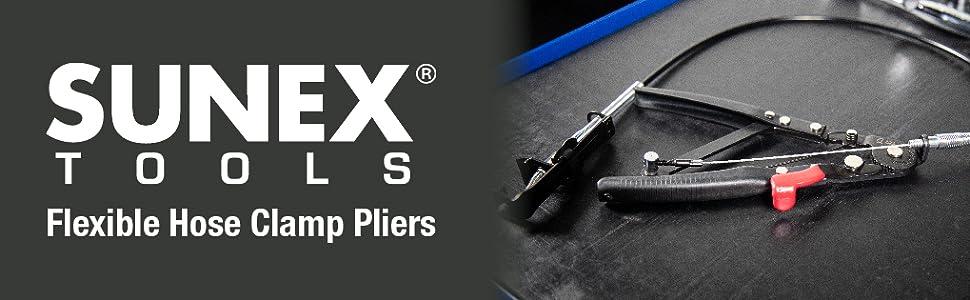 11//16 to 2-1//2 Sunex 3720 Locking Flexible Hose Clamp Pliers