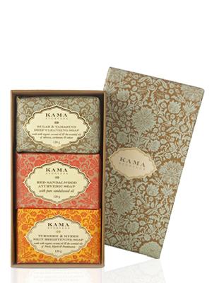 Gift box; gifting; soap box; body cleanser; Sugar & Tamarind Soap; Red Sandalwood Soap