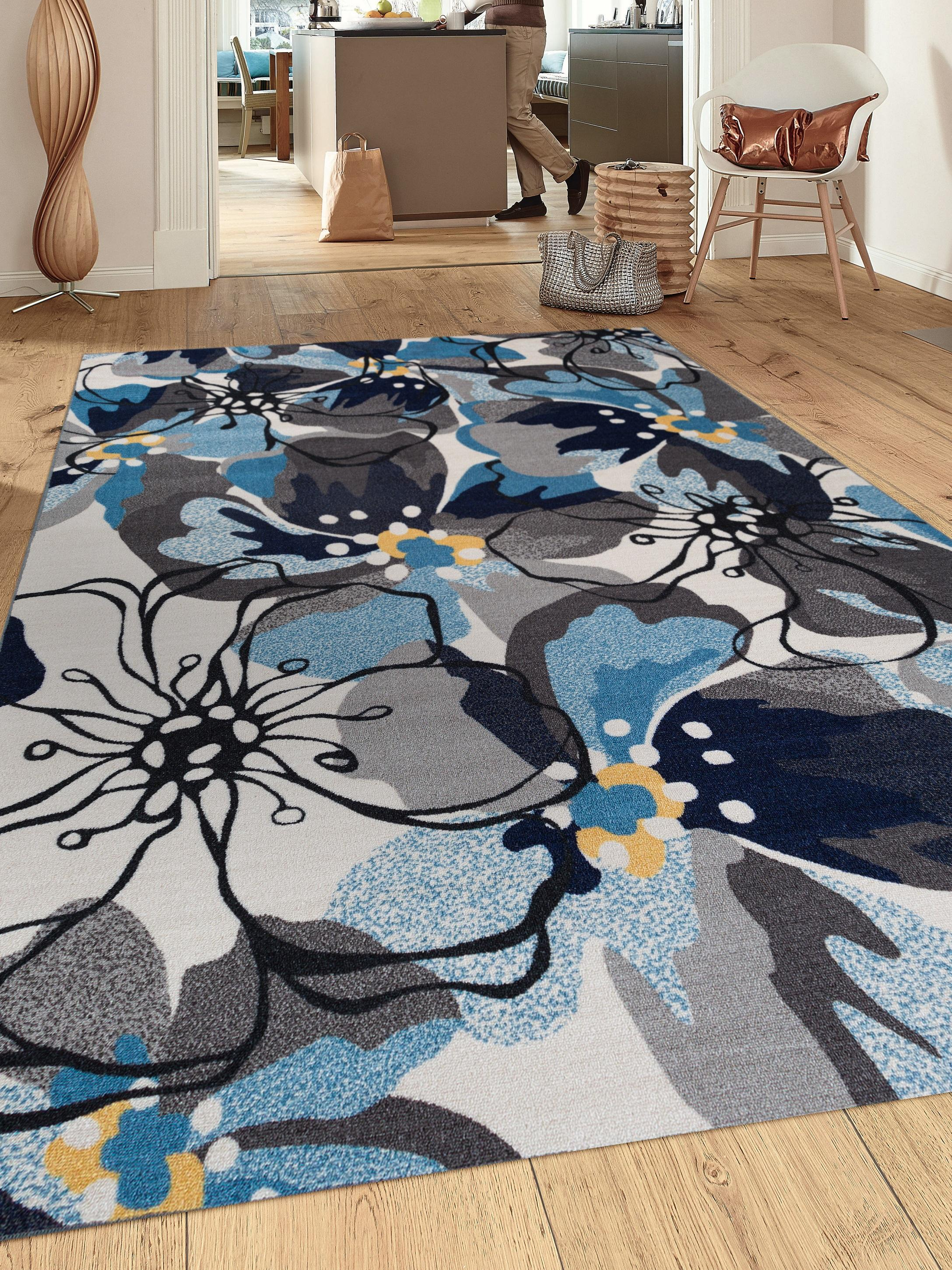 Amazon Com Modern Large Floral Non Slip Non Skid Area