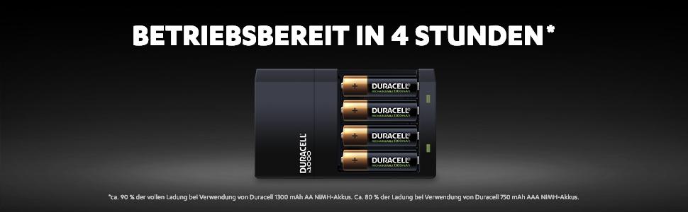 Duracell 4 Stunden Batterieladegerät 1 Stck Elektronik
