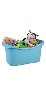 Iris Ohyama, set - 2 paniers de rangement pour jouet - Jumbo Toy Basket
