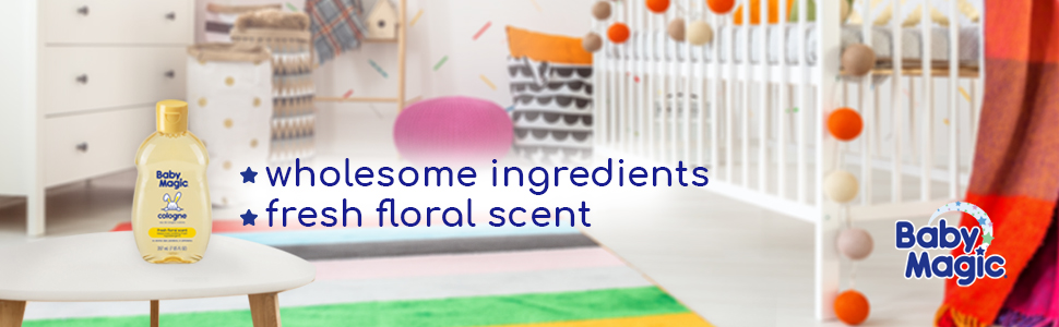 Baby Magic Cologne Fresh Floral Scent Odor Gentle Deodorant Baby