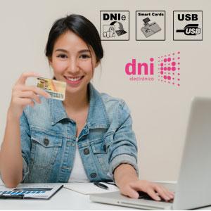Lector de tarjetas de memoria, DNI electrónico, lector tarjetas Smart Cards, Tarjetas inteligentes