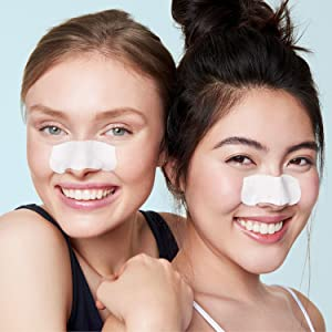 biore deep cleansing pore strips for blackhead removal extraction oily skin clogged pores nose strip