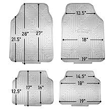 trimmable floor mats