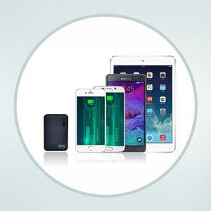 ZINQ Technologies Z10KP 10000mAH Lithium Polymer Power Bank (Black)